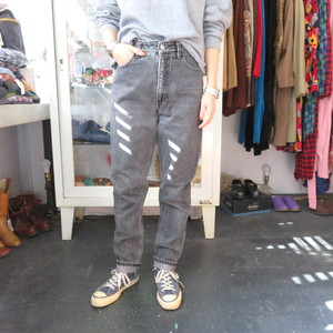 90's GUESS black denim pants tapered