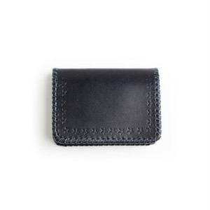 CONSIGLIERE/コンシリエーレ Star leather card case/Navy