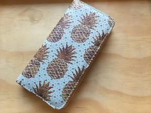 【Pineapple No,4】ハワイ パイナップル 長財布 【ウォレット】レディース財布 ハワイアン雑貨 ラウンドファスナー