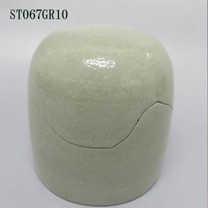 陶器製ミニ骨壷あんのん(ST067GR10)グリーン 無地