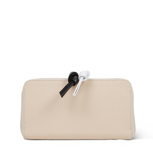 WALLET LONG with white black puller