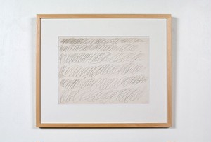 Cy Twombly / Drawing for manifesto of Plinio 額装済