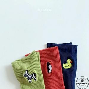 «sold out» animal socks 3set  アニマル ソックス 靴下