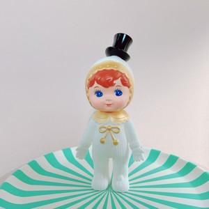 渋沢栄一 チャーミーちゃん charmy 黒 シルクハット(山高帽) ゴールド