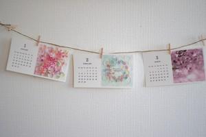 活版印刷カレンダー2017*Photo de ART*フェリーチェ・コローレ