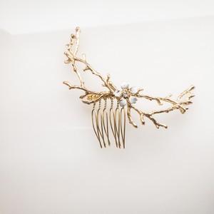 【展示】【和装・洋装】エナメルflower  枝 ヘッドドレス単品②