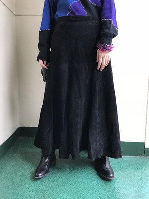 Vintage leather skirt (ヴィンテージ レザー スカート)