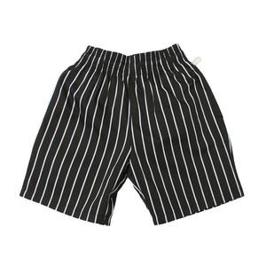 【クリックポスト200-対応】COOKMAN / クックマン : CHEF SHORT PANTS 「Stripe」 BLACK