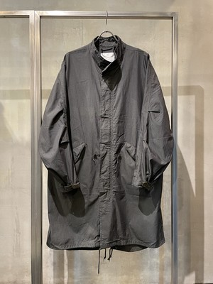 TrAnsference U.S M-65 fishtail coat - imperfection black garment dyed