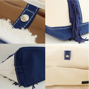 SideFringeToteBag[S]/NAVY 3191