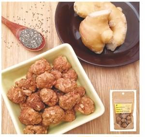 【期間限定】米粉のジンジャー&チアシードグラノーラ30g<マクロビ・ビーガン対応/添加物・香料・保存料・着色料・化学調味料・白砂糖・乳製品・卵不使用>