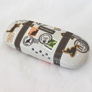【トランクネコ】メガネケース刺繍ラインストーン付【猫雑貨 肉球】