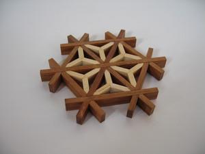 麻の葉コースター asanoha kumiko coaster & ornament