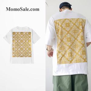 【トップス】ファッションチェック柄ストリート系半袖Tシャツ
