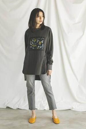 ブラーレオパードロングスリーブTシャツ < チャコールグレー >