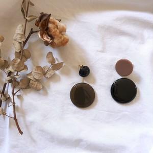 round× round asymmetry pierce ・earring