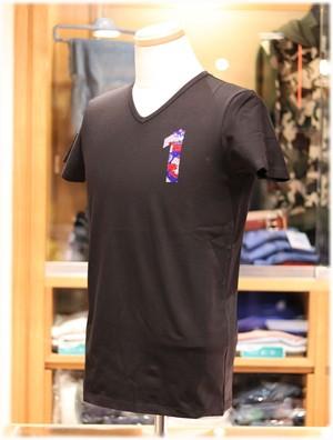 USUALIS collection           ウザリスコレクション  - Italy -     Vネック 半袖Tシャツ