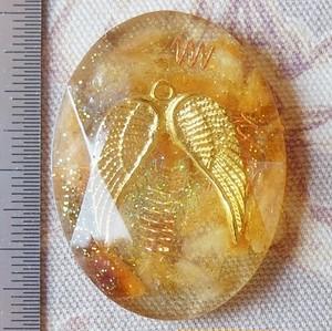 天使の羽のミニオルゴナイト シトリン イエロー 多面タイプ No.18~24