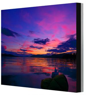 四つ切りワイド写真パネル アラスカ・ユーコン川 Leo R. Yamada撮影 木製パネル張り 20160616235829