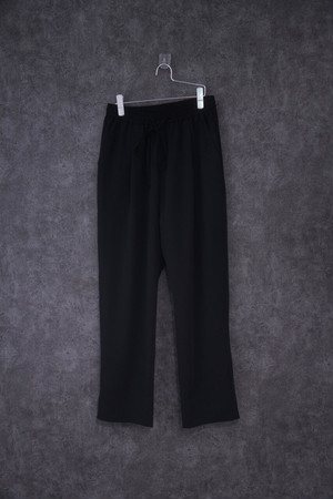 Nora Lily Relax Straight Pants -BLK- (UNISEX)