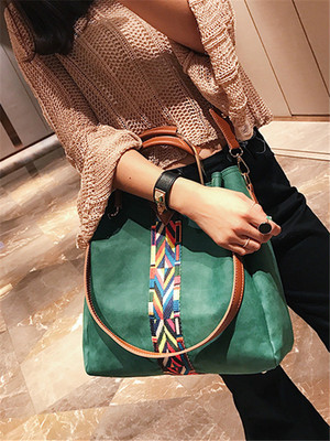 【accessories】Simple ribbon bucket type shoulder bag