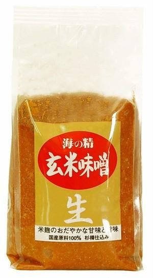 海の精 国産有機 玄米味噌(1kg)