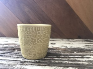 『BIRDS' WORDS』バーズワーズ PATTERNED CUP パターンカップ  yellow