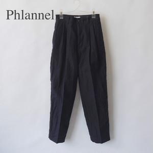 Phlannel/フランネル・Cotton Linen Voile Two-tuck Trousers
