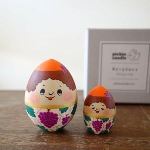 木製人形 2個組/たまごちゃん(ぶどう)/箱入り