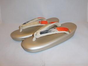 古布モダン鼻緒ぞうり(Lサイズ) Japanese shoes(No7)