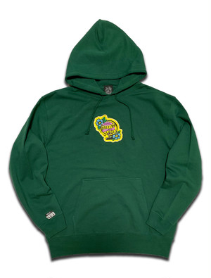 PEACE PATCH PILE HOODIE green