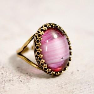 ギブレガラス ヴィンテージガラスリング(指輪)