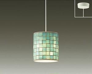 希少なグリーン(緑)色系のモザイクタイルガラスセードのコンパクトペンダントライトC【天井吊り照明】