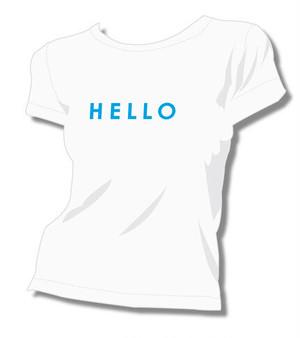 【立花綾香】HELLO Tシャツ ホワイト