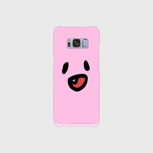 笑うファジー スマホケース (Android v1 白 表面のみ印刷)