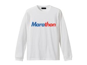 LONG SLEEVE T-SHIRT M319201-WHITE / ロンT ホワイト WHITE  / MARATHON JACKSON マラソン ジャクソン