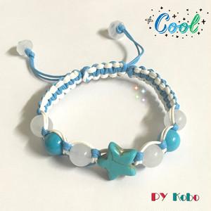 [Amulet] Turquoise x White chalcedony refreshing bracelet