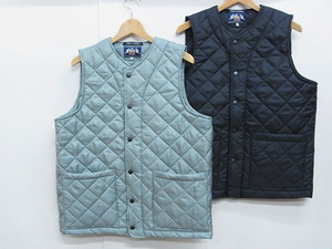 BEAVER OF BOLTON/COLLARLESS QUILTED VEST