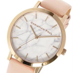 クリスチャンポール CHRISTIAN PAUL マーブル BONDI レディース 腕時計 MRL-02 (MAR-17/MWR3506) ローズゴールド/ベビーピンク ホワイト