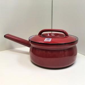 EVER WARE ホーロー製の片手鍋【赤】(0820202S80)