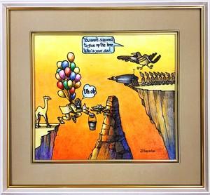 Jean-Pierre Anpontan 原画「あきらめない事」オリジナルアート作品