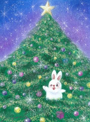 ハッピークリスマス!! パステル画 藤井元康