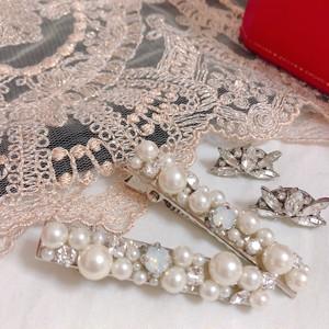 bijou× pearl hair clip