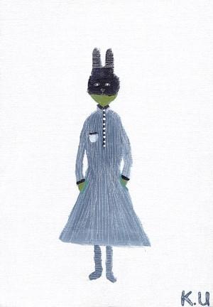 ポストカード「 ウサギの子 」