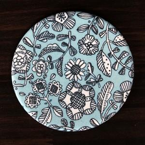 吸水コースター:カラフル模様ブルー・・・スウセラ(sucera)