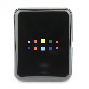 フィルムボックス缶[ブラック] チェキスクエア用  instax SQUARE film box