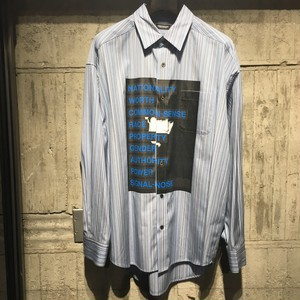 【CHRISTIAN DADA】Graphic Print Stripe Shirt