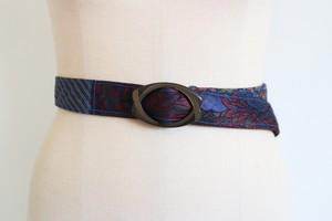 necktie remake belt ( fruit & stripe )