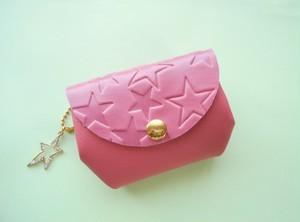 星に願いを・ピンク・とっても便利なふっくらお財布・受注販売