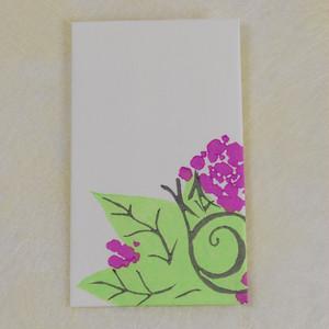 【木版画ぽち袋】カタツムリと紫陽花